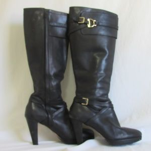Cole Haan Black Leather POPPY BIT Boots 9.5